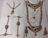 BRAND NEW EXCLUSIVE FULL WEDDING COLLECTION LARGE JEWELLERY SET