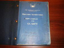 1927 Erection Plans Douglas T2D-1 Torpedo-Bomber-Scout Flight Manual Original