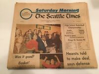 SEATTLE TIMES NEWSPAPER MARCH 6 1976 3-6-76 Original 1970s School Basketball