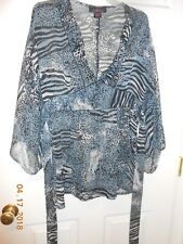 Cute Pink Collection size large animal print chiffon bell sleeves 4 All Seasons