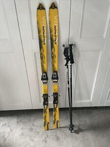 Salomon X Scream skis with Scott poles all in a bag