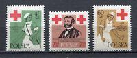 35671) Poland 1959 MNH Polish Red Cross 3v Scott #868/70