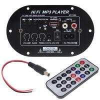 High Power Bluetooth Car Subwoofer Hi-Fi Amplifier Board TF USB 12V/24V/220V 30W
