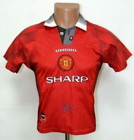 MANCHESTER UNITED 1996/1997/1998 HOME FOOTBALL SHIRT JERSEY UMBRO SIZE YL BOYS