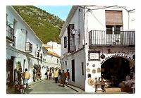 Mijas Andalusia Spain Postcard Typical Street Calle Tipica Posted 1987 Postmark