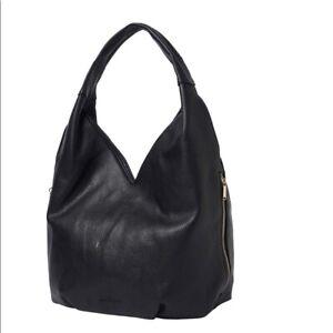 URBAN ORIGINALS vegan leather Love Success large women's hobo bag purse -BLACK