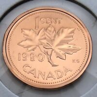 1990 Canada 1 One Cent Penny Canadian Brilliant Uncirculated BU Coin G381