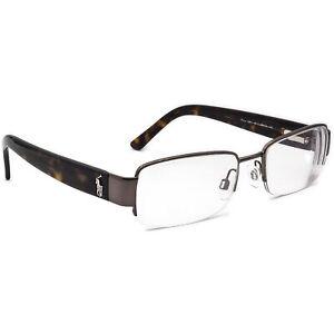 Ralph Lauren Polo Eyeglasses 1037 9011 Havana Half Rim Frame Italy 50[]18 140