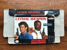 Lethal Weapon SNES Super Nintendo Empty Box Only