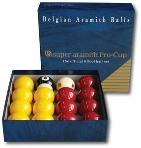 Super Aramith Pro Cup Casino 8 Pool Balls Spot Measle Dotted Cue Ball