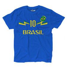 Maglietta T-shirt Calcio 2 Junior Nazionale Neymar Brasile 10 KiarenzaFD Shirts