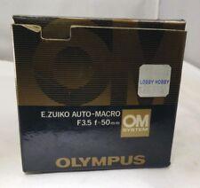 Empty Box for Olympus OM E. Zuiko auto macro 50mm f3.5 lens    Free Shipping USA