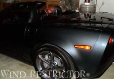 Windrestrictor® brand wind blocker Corvette C6 Grand Sport Logo screen stop