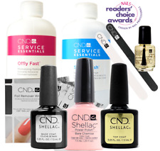 CND Shellac Starter Kit, Top/Base/Essentials/Color Bare Chemise