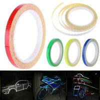 Waterproof Reflective Stickers Motorcycle Bicycle Security Wheel Rim Decal Tape
