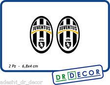 2 Adesivi scudetto Juventus in vinile Sagomati