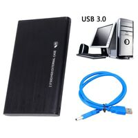US 1TB USB 3.0 Black Portable External Hard Drive Ultra Slim For One Mac Windows