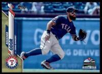 2020 Topps Series 2 Base Gold Foil #657 Rougned Odor - Texas Rangers