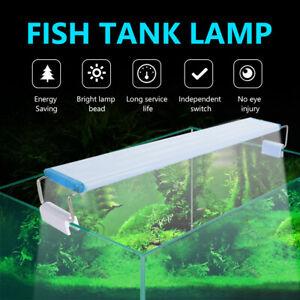 Aquarium Fish Tank LED Light Bar Lighting Lamp White Blue 16-48 LEDS EU Plug 1x