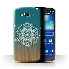 STUFF4 Case/Cover for Samsung Galaxy Mega 5.8/Ombre Pattern/Mandala/Wood