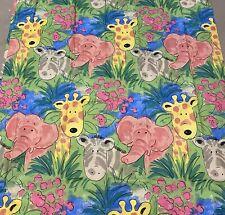 """Vintage Children's Jungle Chums Curtains 66x54"""" Ashton & Dean BNIP"""