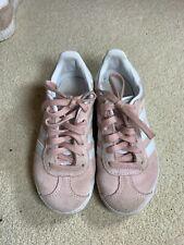 Girls Adidas Pink Suede Gazelle Trainers - Size Uk 10.5 EU 28.5