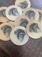 15-Vari Vue Vintage Flicker Monkey Disc Pre Button