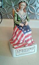 Rare Vintage 1975 Original Lionstone Porcelain Betsy Ross Whisky Empty Decanter