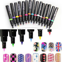 DIY Nail Art Pens Design 16Color Manicure Tools Women Delicate Beauty Polish