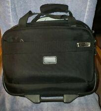 Delsey Helium Carry On Business Case Wheels Black Laptop Travel Bag
