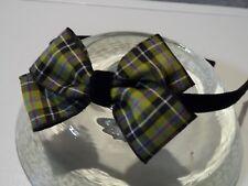 ladie velvet headband hair band aliceband hair bow tartan/plaid/ cornish/ celtic