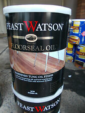 """Feast Watson """"FLOORSEAL OIL"""" SATIN 10 Litre can  - pick up only"""