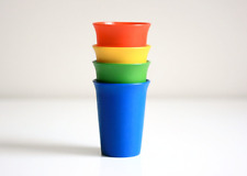 Tupperware Kids Bell Tumblers Cups 7-oz Set in Primary Colors Red Blue Green New