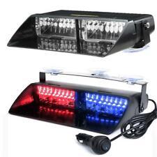 Blue Red 16LED Emergency Car Windshield Flash Strobe Warning Lights Light 12V
