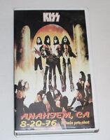 1976 Kiss Concert VHS Anahiem California