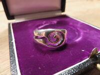 Beeindrukender 925 Sterling Silber Ring Designer Unisex Spirale Goa Hippi Psy 1A