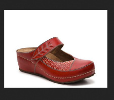SPRING STEP CANTELOPE RED clog mary jane wedge clogs red mules shoes 37 US 6.5 m