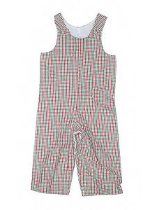 Toddler Boy Princess Linens Green White Red Christmas Longall Romper Size 24 M
