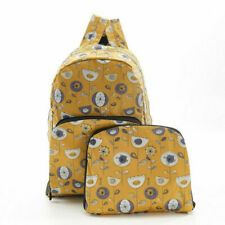 Eco Chic Mustard 1950's Flower Foldable Backpack - BNWT