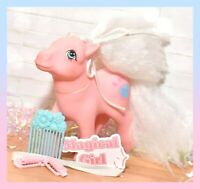 ❤️My Little Pony MLP G1 Vtg SWEET LILY Pink Perfume Puff Flower Pick Comb❤️