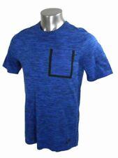 Nike Tech Knit Pocket Tee Sz S 729397-439 Blue Black T Shirt Top