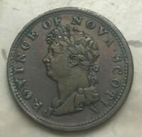 1823 Nova Scotia Canada 1/2 Half Penny Token