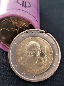 DISPO 2 euro ITALIE 2014 Commémo Galileo Galilei. NEUVE. Envoi en suivi.