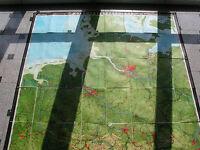 NW-D 193x227 1971 vintage north west germany wall map B 德力西墙上的地图  JA 西ドイツウォールマップ