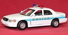Ford Crown Police Interceptor Kinsmart Model white car 1:42 toy