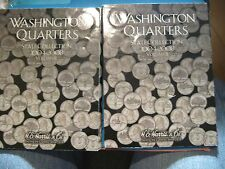 2 WASHINGTON QUARTERS 2004-2008 DISPLAY BOOKS + 5 HOLDERS 3 - 2000'S and 2 -2002