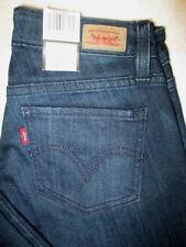 Levis Flare Jeans Stretch Womens Dark Blue Denim Jeans Size 0 x 32 New