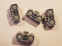 4 LEGO BOOM BOX RADIO MUSIC  MINIFIGURE CITY TOWN BOY GIRL