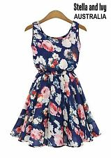 womens skater party cocktail dress floral size 12 new