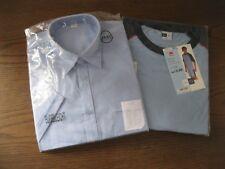Kleines Herrenpaket: Kurzarm-Herrenhemd hellblau 41-42 bügelleicht + Shorty 52